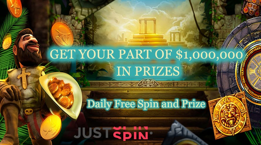 Grab your share in 1,000,000 prize pool witn Justspin