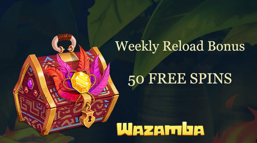 50 free spins every week with Wazamba online casino