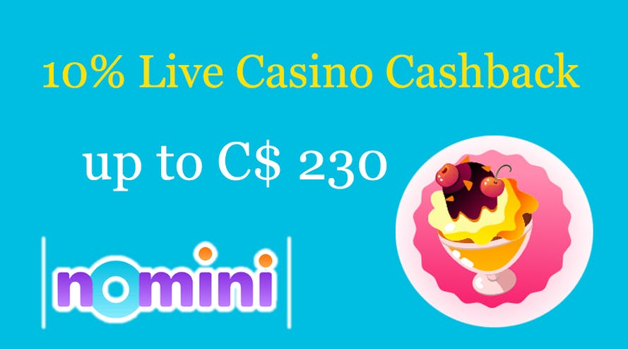 Do not be afraid to lose as you get 10% cashback for every to lose with Nomini