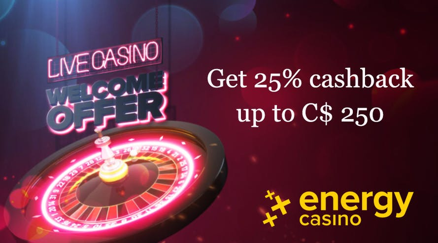 Get energetic with the Live Casino Welcome Bonus from Energy casino