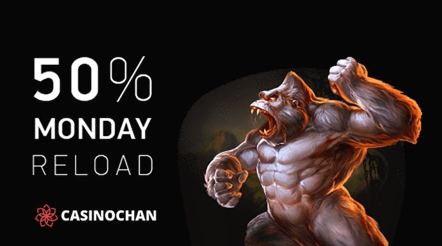 Reload Monday with Monday Reload Bonus by CasinoChan