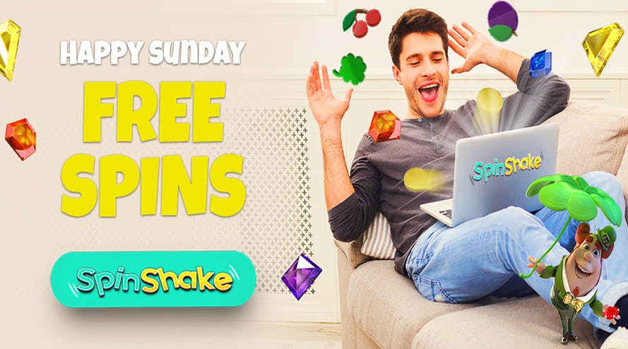 Shake and Drop the free spins every Sunday with SpinShake casino