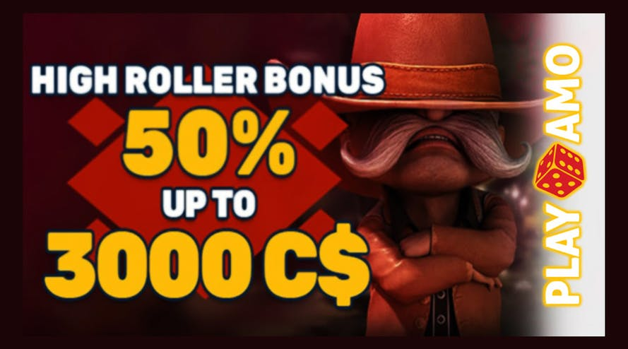 Get high feelings with PlayAmo High-Roller Bonus promotion