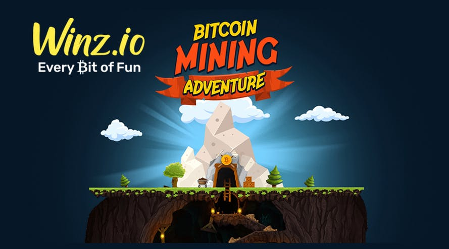 Join the Bitcoin Mining Adventure by Winz crypto casino and win 1 BTC prize