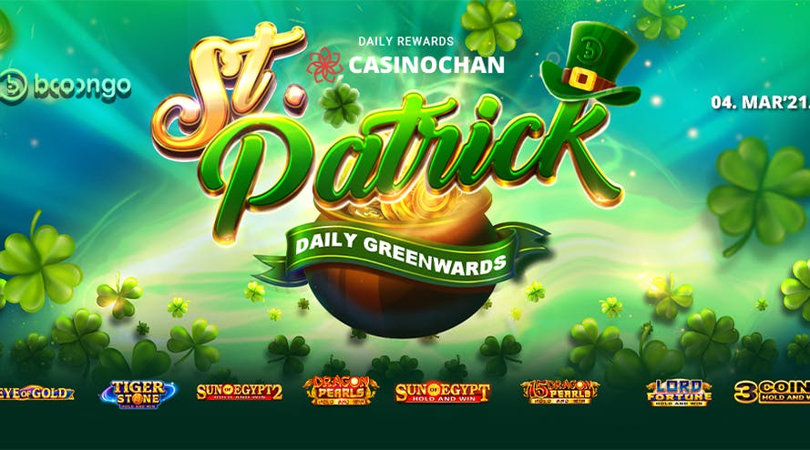 Your Personal 1160$ Prize Pool at St. Patrick Daily Greenwards Tournament!