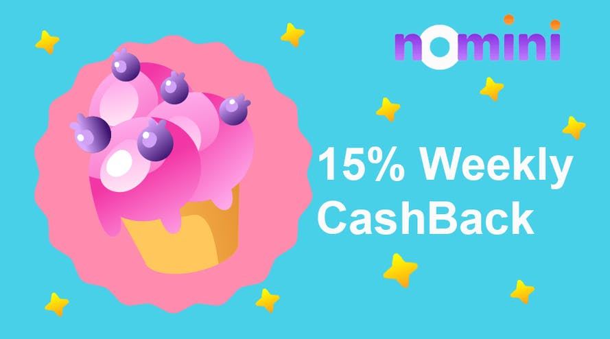 15% Weekly Cashback from Nomini